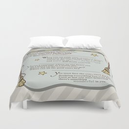 Age of Not Believing Duvet Cover