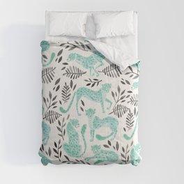 Cheetah Collection – Mint & Black Palette Comforters