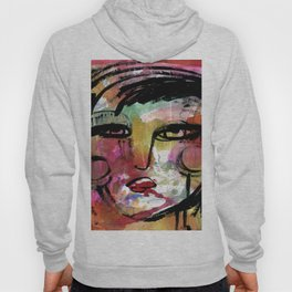 Funky Face 14-912 by Kathy Morton Stanion Hoody