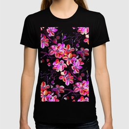 Watercolor Sakura Cherry Blossom Fuchsia T-shirt
