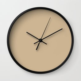 Buff Beige Tan Taupe Solid Color Pairs To Sherwin Williams Whole Wheat SW 6121 Wall Clock