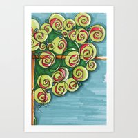 plant Art Prints featuring plant by Onde di Tela by Antonella Franco