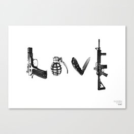 All's Fair in Love and War Canvas Print