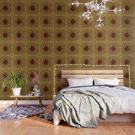 """Golden Circle Japanese Vintage"" Wallpaper"