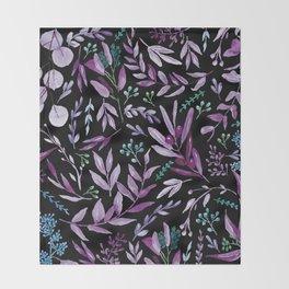Eucalyptus Violet Throw Blanket