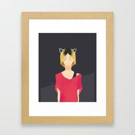 cat Kenma Framed Art Print