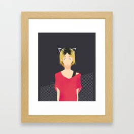 cat Kenma Framed Art Print