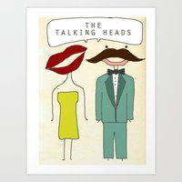 talking heads Art Prints featuring The Talking Heads by Courtney Vlaming