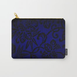 Dark Blue Japanese Pattern Carry-All Pouch