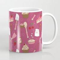 baking Mugs featuring Shaking n' Baking by Valentina Cariel