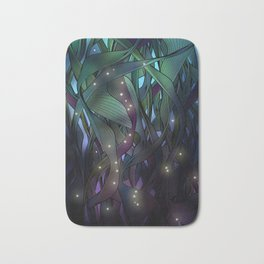 Nocturne with Fireflies Bath Mat
