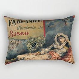 Constantinople Italian vintage book advertisement Rectangular Pillow