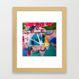 colorful abstract blue sunset Framed Art Print