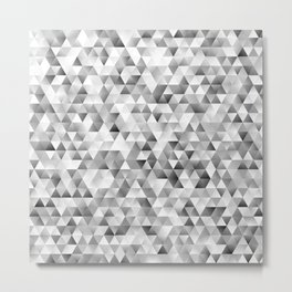 Grey triangle pattern Metal Print