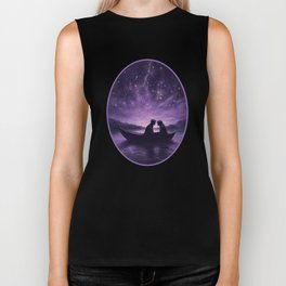 Lovers Under A Starlit Sky Biker Tank