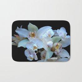 A White Orchid Wedding Bath Mat