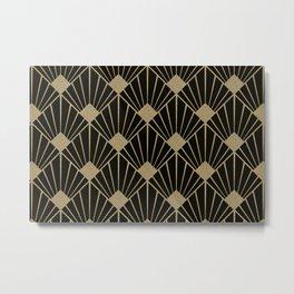 Black And Gold Art Deco Design Metal Print