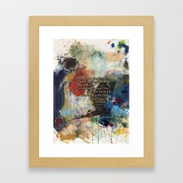 Scripture Bible Verse Christian Inspired Abstract Art by Michel Keck Framed Art Print