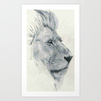 lions Art Prints featuring Lions. by Mighty Truth