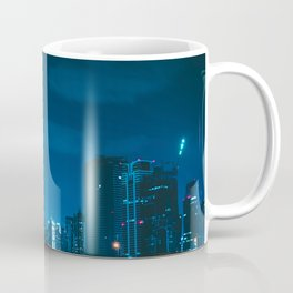 CITY WITH HIGH-RISE BUILDINGS DURING NIGHT TIME Coffee Mug