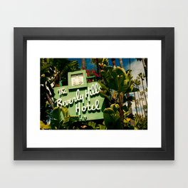Classy Beverly Hills Hotel Mid Century Modern Neon Sign Framed Art Print