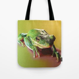 Frog Portrait Tote Bag