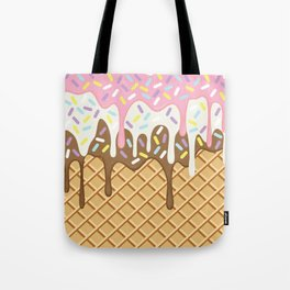Neapolitan Ice Cream with Sprinkles Tote Bag