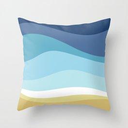 Blue Ocean Waves ! Throw Pillow