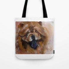 Chow dog portrait Tote Bag