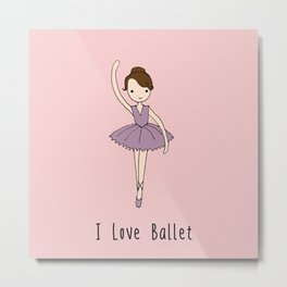 Ballerina - Brown Hair Metal Print