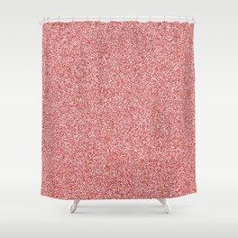 Melange - White and Firebrick Red Shower Curtain