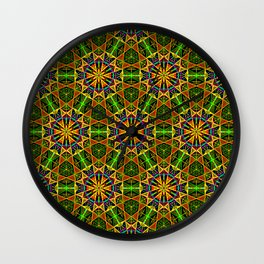 Tribal Celebration Wall Clock
