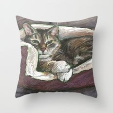 Pet Portrait 1  Throw Pillow
