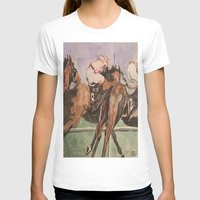 racing T-shirts featuring Racing Trio by Connie Campbell