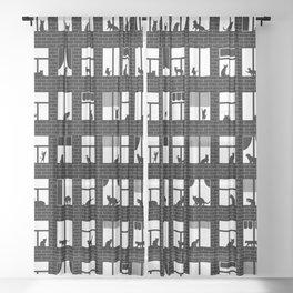 Feline Towers Sheer Curtain