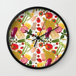 Fresh Italian Market Food Wall Clock