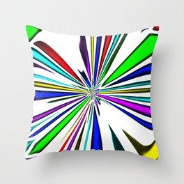 butterfly clown Throw Pillow