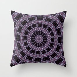 Eggplant and Pale Aubergine Kaleidoscope Pattern Throw Pillow