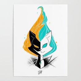 Nightmare/ScribbleNetty (Orange/Turquoise) Poster
