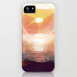 Winged Mediterranean Sunrise with circles and triangles iPhone Case