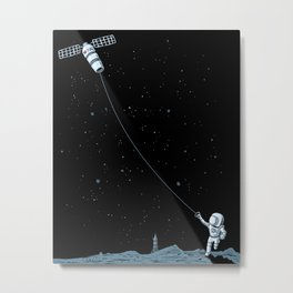 Satellite Kite Metal Print