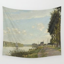 Claude Monet Argenteuil c. 1872 Painting Wall Tapestry
