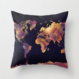 world map 64 Throw Pillow