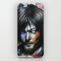 daryl dixon iPhone & iPod Skins featuring Daryl Dixon by Jhaiku