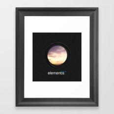 elements | clouds Framed Art Print