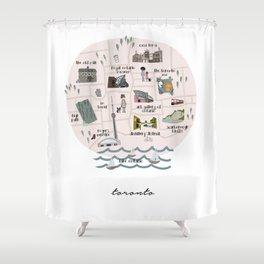 Toronto City Map Shower Curtain