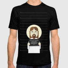 Jesus's arrest SMALL Mens Fitted Tee Black