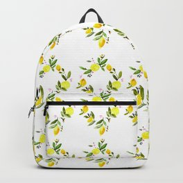 Lemon Print Backpack