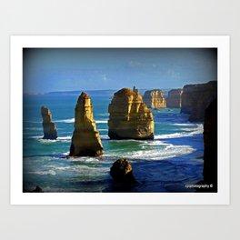 Limestone Rock Stacks - Twelve Apostles Art Print