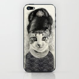 audrey cat iPhone Skin